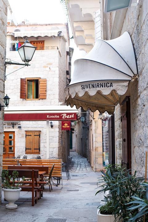 Travel, Trogir, Street, Architecture, Mediterranean
