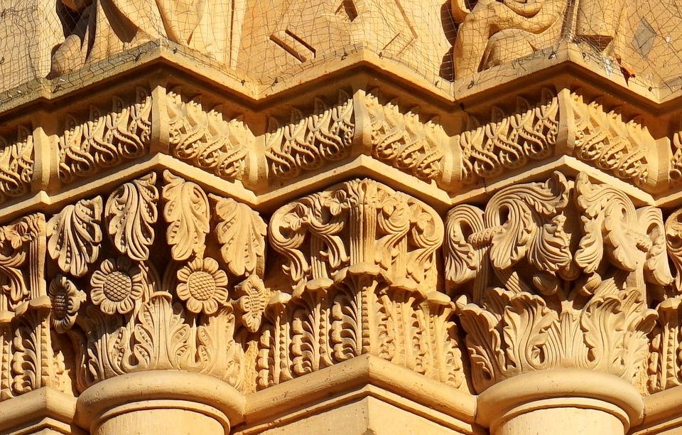 Architecture, Ornament, Art, Floral, Travel, Pillar
