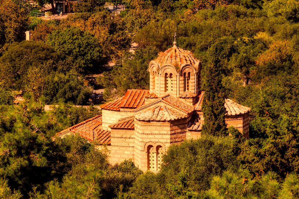 Architecture, Outdoors, Travel, Tree, Church, Athens