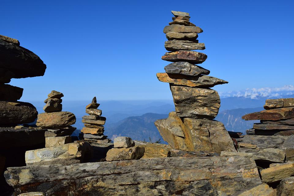 Rock, Stone, Balance, Travel, Rock Stack, Kalinchok