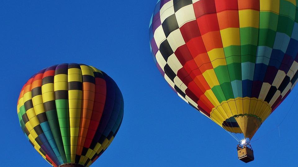 Hot Air Balloons, Blue Sky, Adventure, Basket, Travel