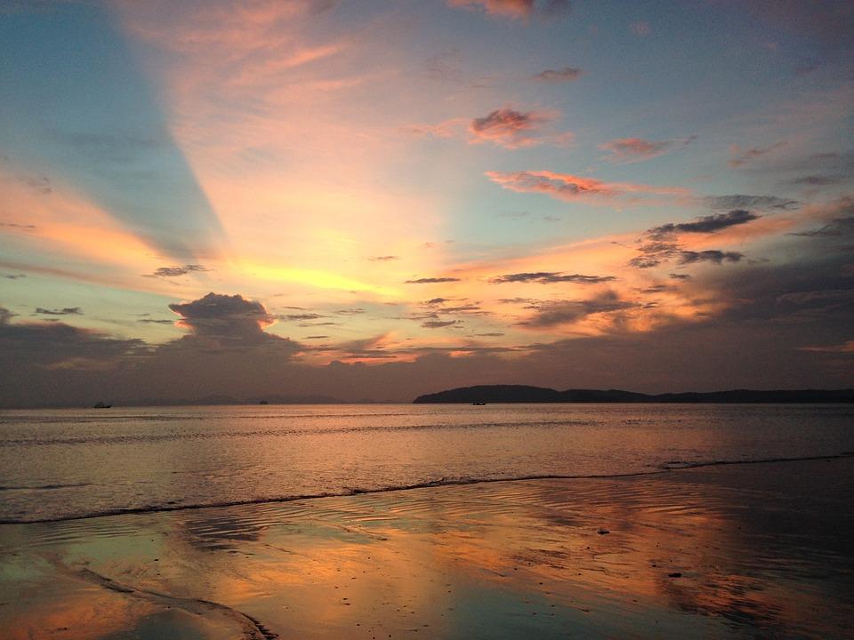 Thailand, Thai, Sunset, Beach, Asia, Travel, Tropical
