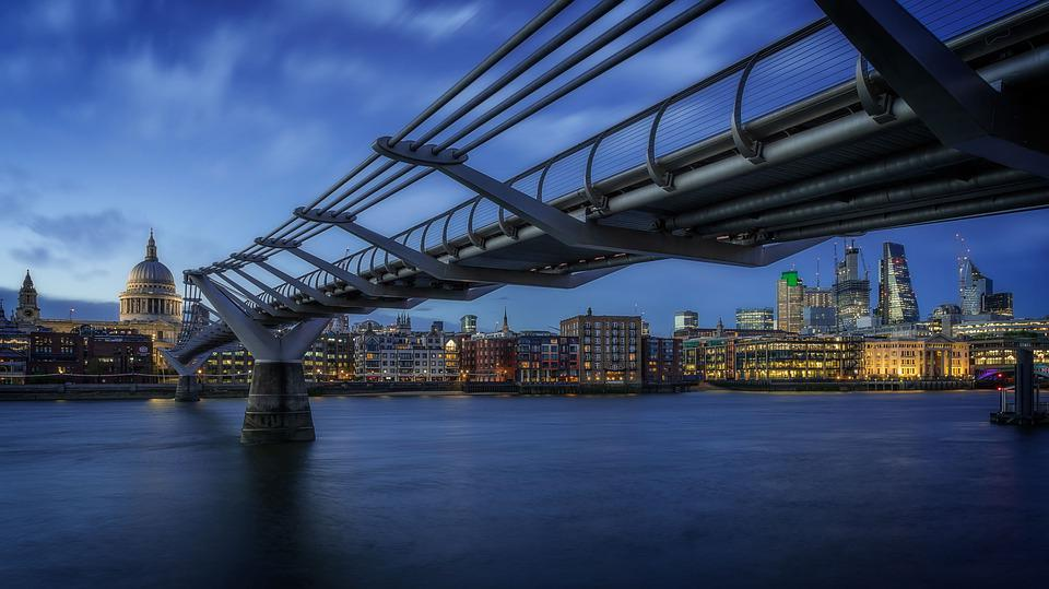 London, Blue Hour, England, Travel, City, Night, Sky