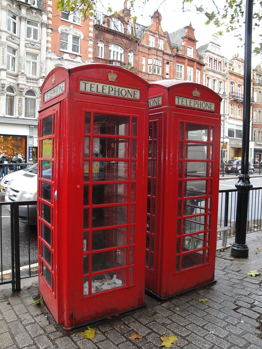 London, Red, Phone, Booth, England, British, Travel