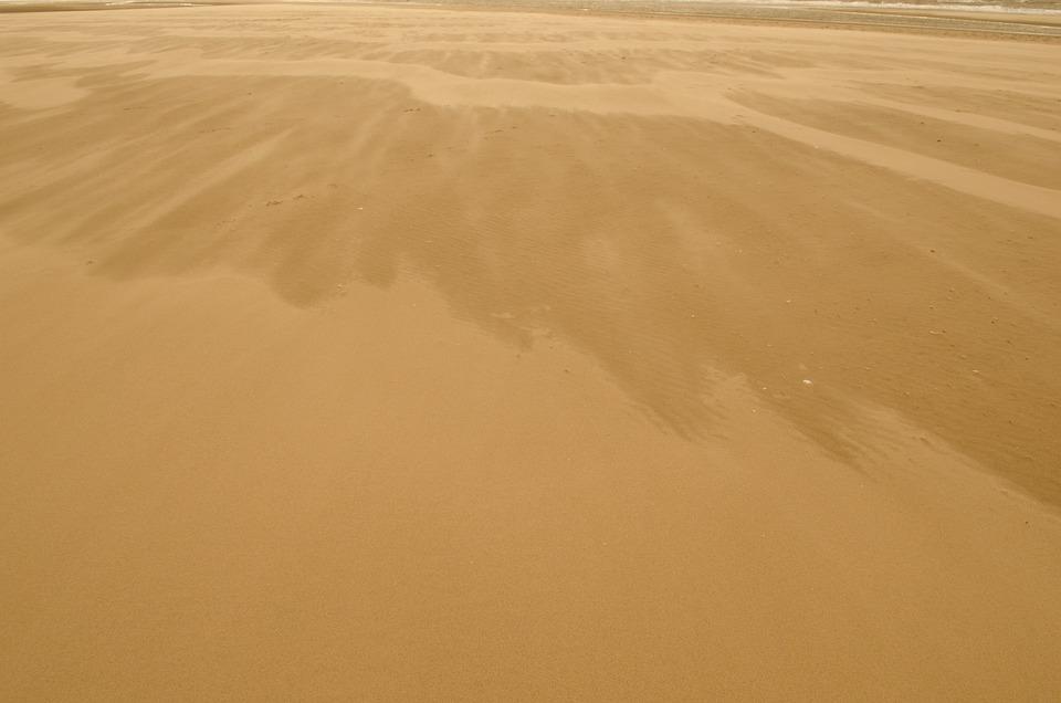 Sand, Beach, Background, Coast, Natural, Travel, Brown