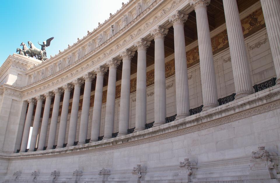Architecture, Column, Building, Travel, Sky, City Rome
