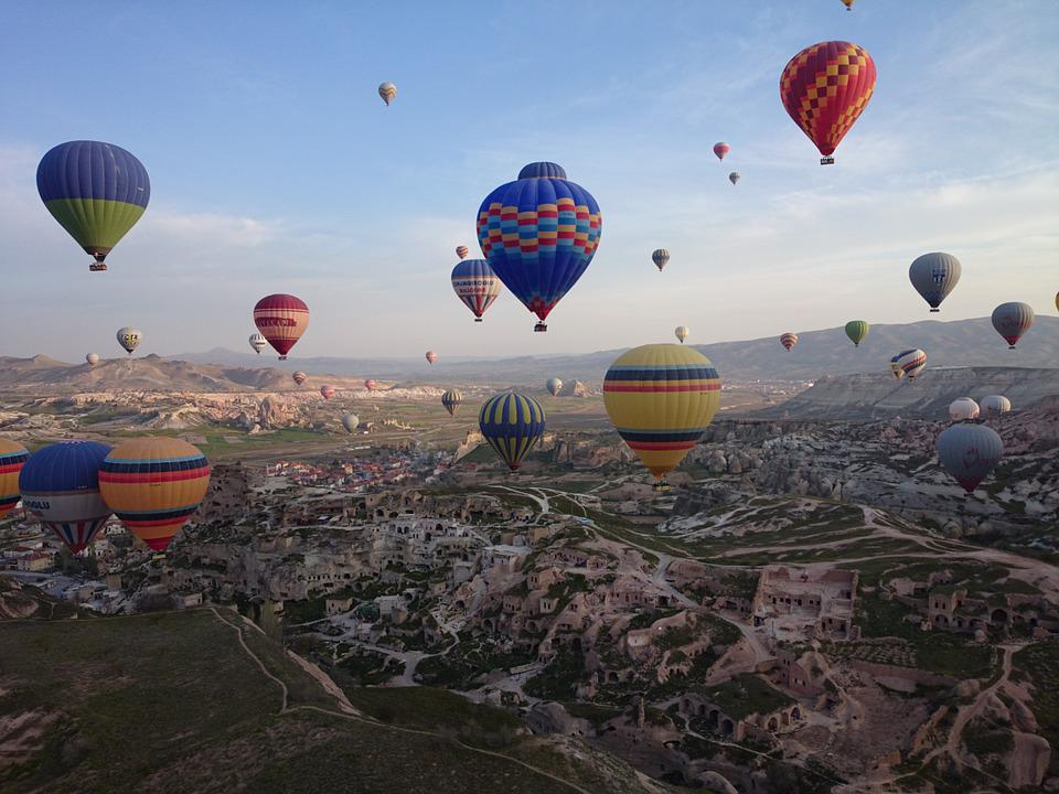 Cappadocia, Turkey, Travel, Hot Air Balloon, Landscape