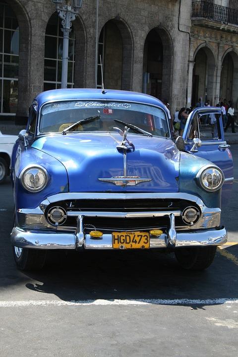 Cuba, Car, Travel, Old Car