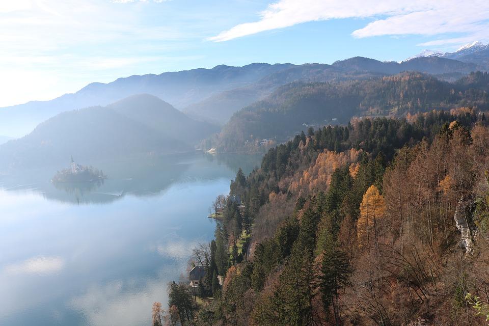 Bled, Slovenia, Lake, Church, Water, Castle, Travel