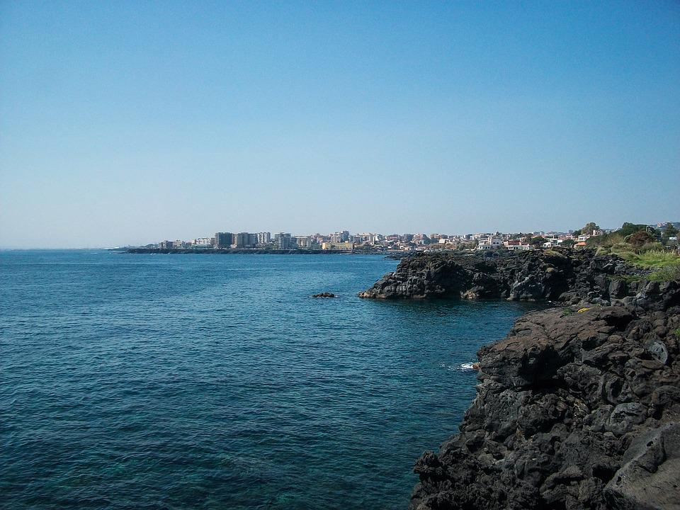 Waters, Sea, Travel, Costa, Sky, Catania, Acicastello