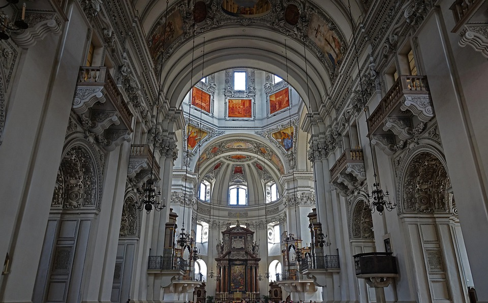 Dom, Church, Salzburg, Austria, Travel, Architecture