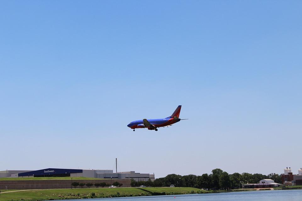 Airplane, Sky, Plane Landing, Dfw Airport, Travel