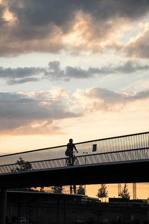Bicycle, Bridge, Copenhagen, Travel, Europe
