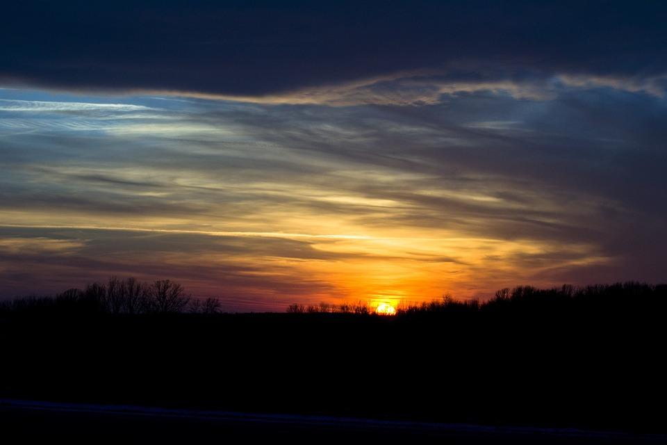 Sunset, Sky, Storm, Clouds, Evening, Dusk, Travel