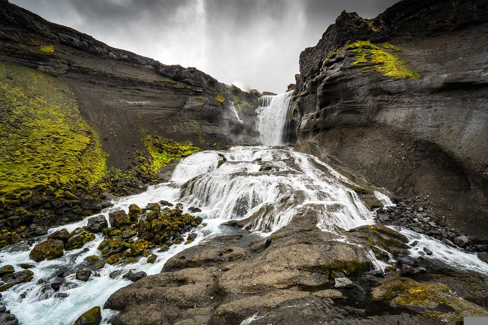 Waterfall, Nature, Travel, Landscape, Iceland, River