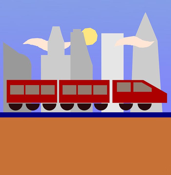 Train, City, Urban, Travel, Travel Icon, Landscape