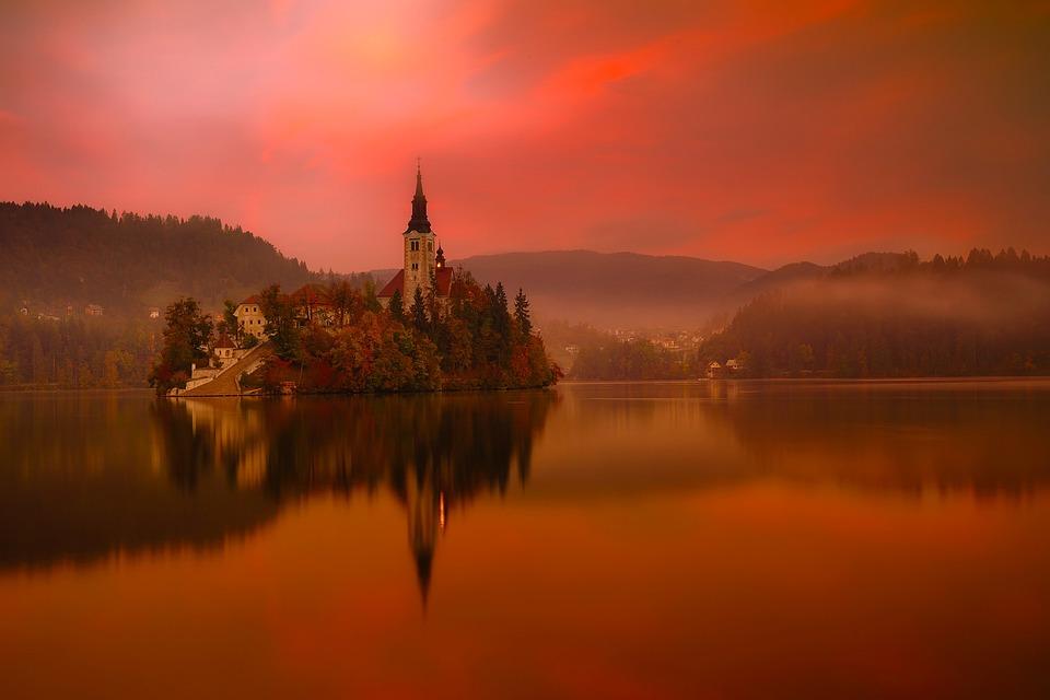 Lake Bled, Slovenia, Travel, Tourism, Mountains, City