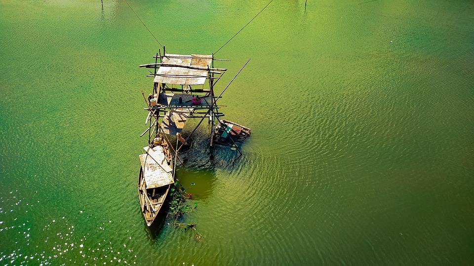 Boat, Lake, Outdoors, River, Travel