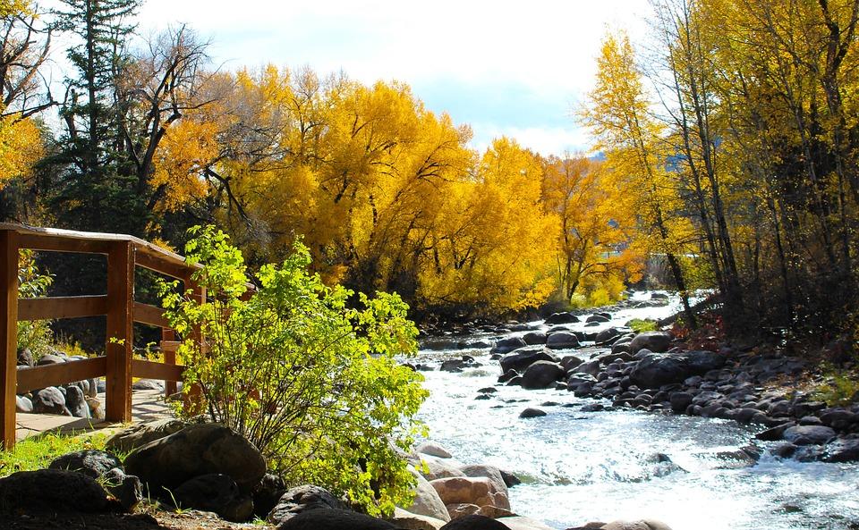 River, Colorado, Autumn, Landscape, Travel, Nature