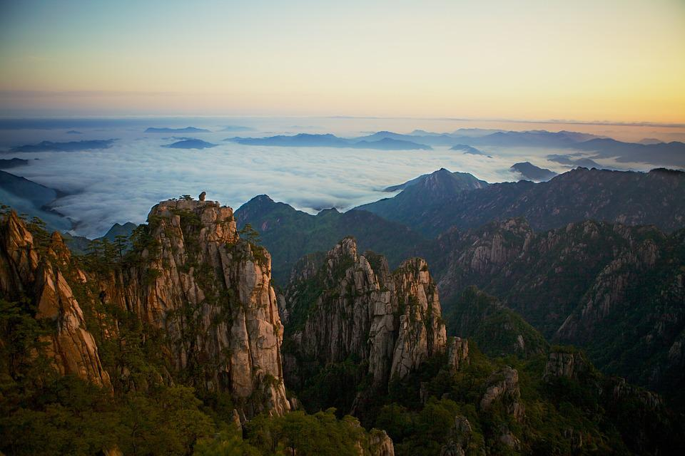 Yellow Mountains, Mountain, Landscape, Chinese, Travel