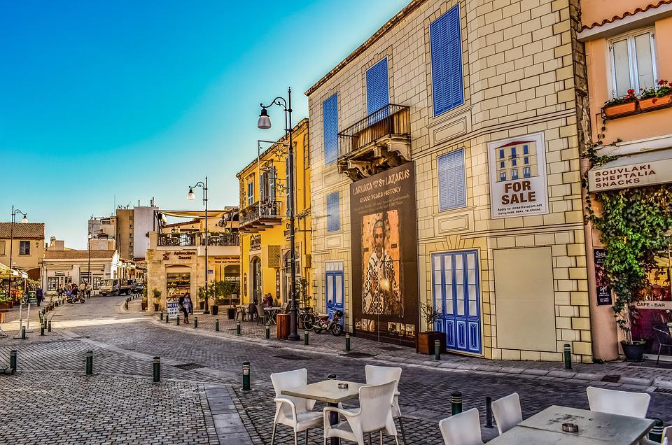 Cyprus, Larnaca, Square, Travel, Architecture, Downtown