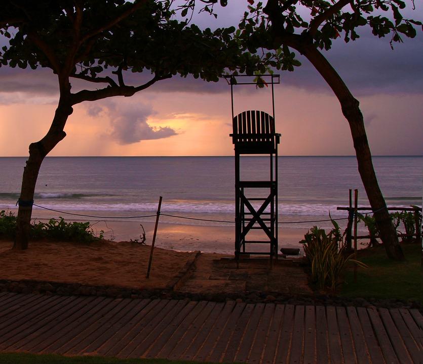 Bali, Travel, Beach, Lifeguard, Sunset