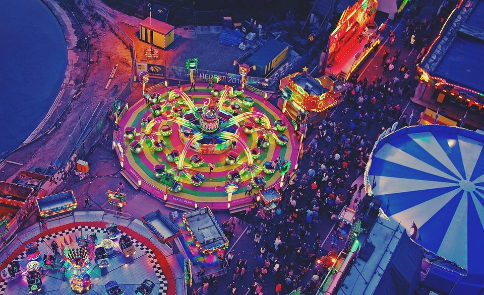 Festival, Fun Fair, Lights, Fun, Joy, Evening, Travel