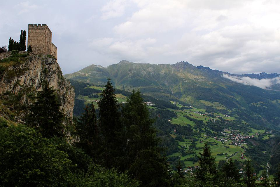 Castle, Mountains, Landscape, Fortress, Rom, Travel