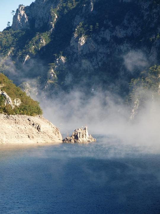Water, Travel, Mountains, Sky, River, The Fog