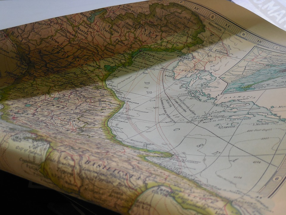 Map, Paper, Vintage, Old, Travel, Geography, Earth