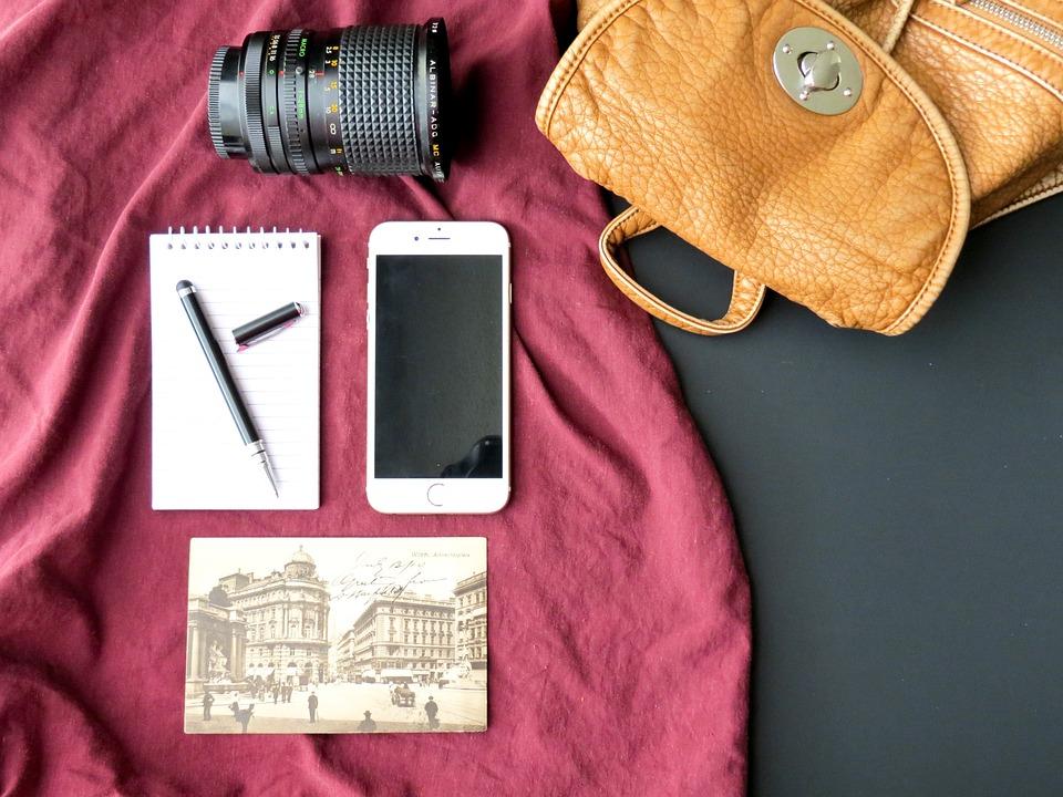 Travel, Lifestyle, Photographer, Camera, Phone, Notepad
