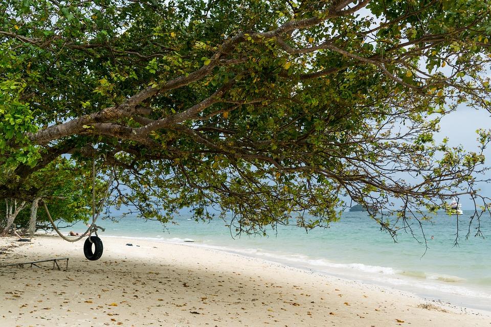 Phuket, Thailand, Phi Phi Island, Tire Swing, Travel