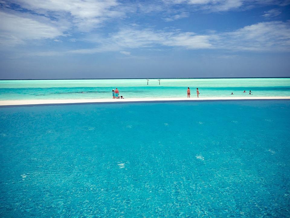 Maldives, Beach, Pool, Travel, Water, Sea, Island