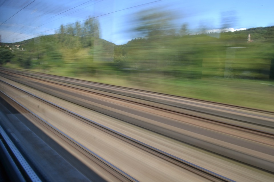Train, Track, Travel, Railway, Blurred