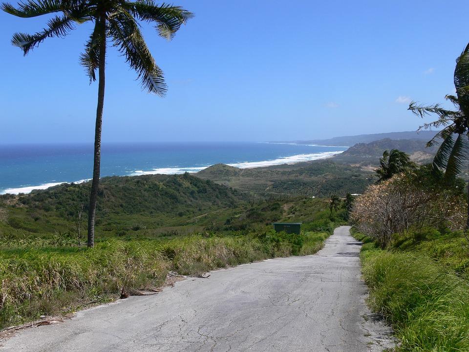 Road, Beach, Tropical, Vacation, Travel, Trip, Blue