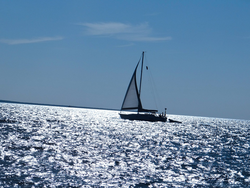 Sailboat, Sea, Travel, Sail, Nautical, Vessel, Blue