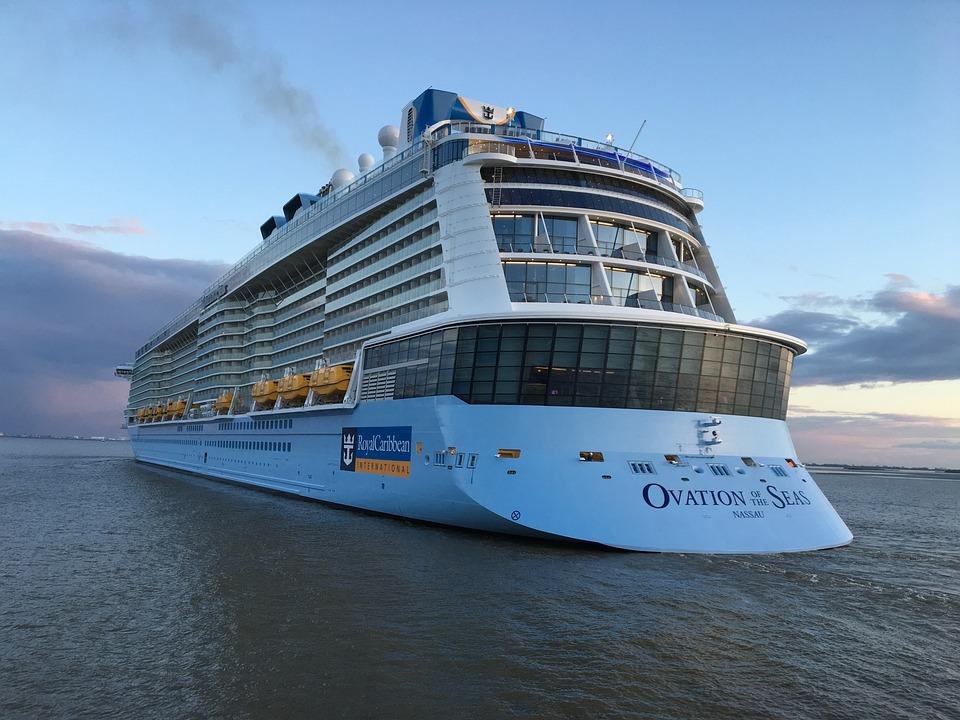 Cruise Ship, Ovation Of The Seas, Travel, Sky, Sea