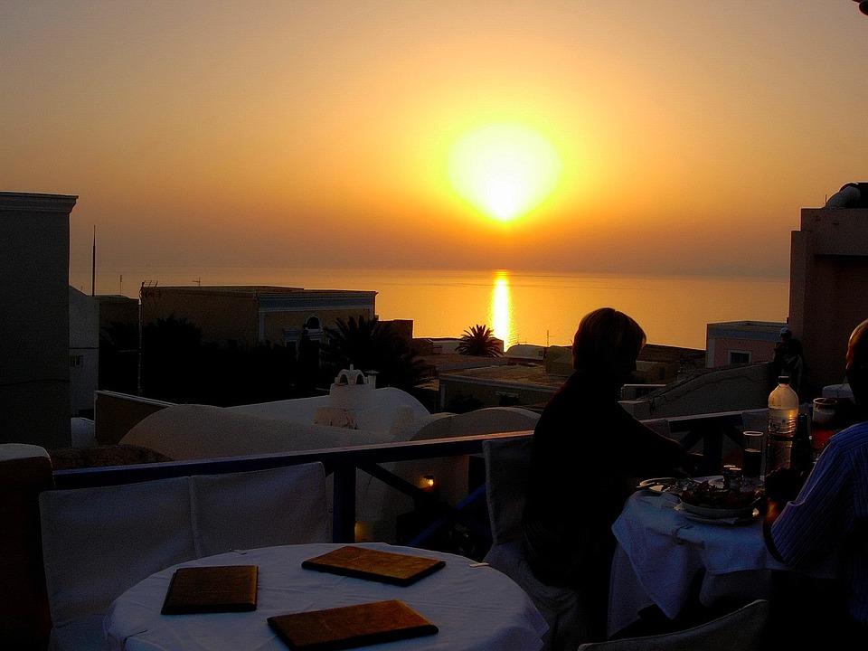 Sunset, Greece, Island, Sea, Travel, Greek