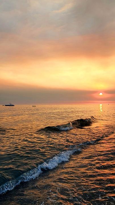 Sea, Sunset, Outdoors, Ocean, Travel, Exploration