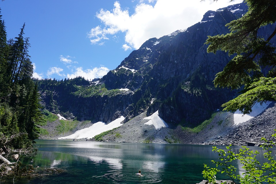 Mountain, Lake, Seattle, Landscape, Travel, Water