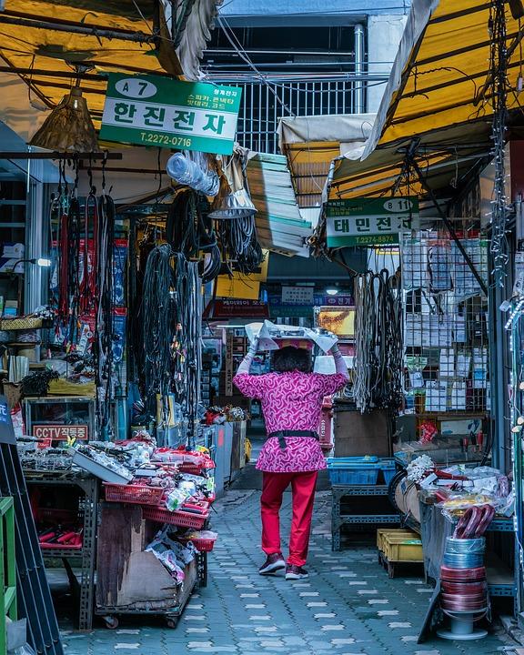 Market, Seoul, Korea, Travel, Korean, Asia, Vendor