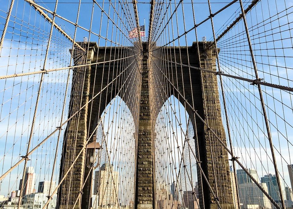 Sky, Dew, Bridge, Large, Travel, Architecture, Steel