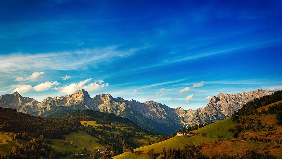 Mountain, Panorama, Nature, Travel, Sky, Blue