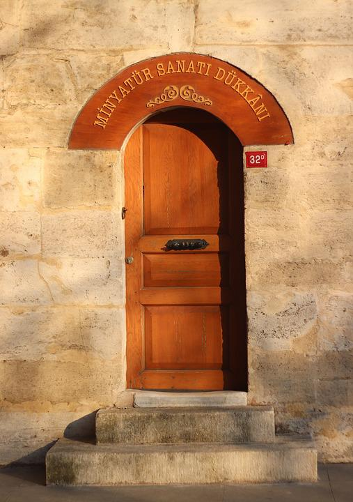 Door, Little, Temple, Stairs, On, Date, Culture, Travel