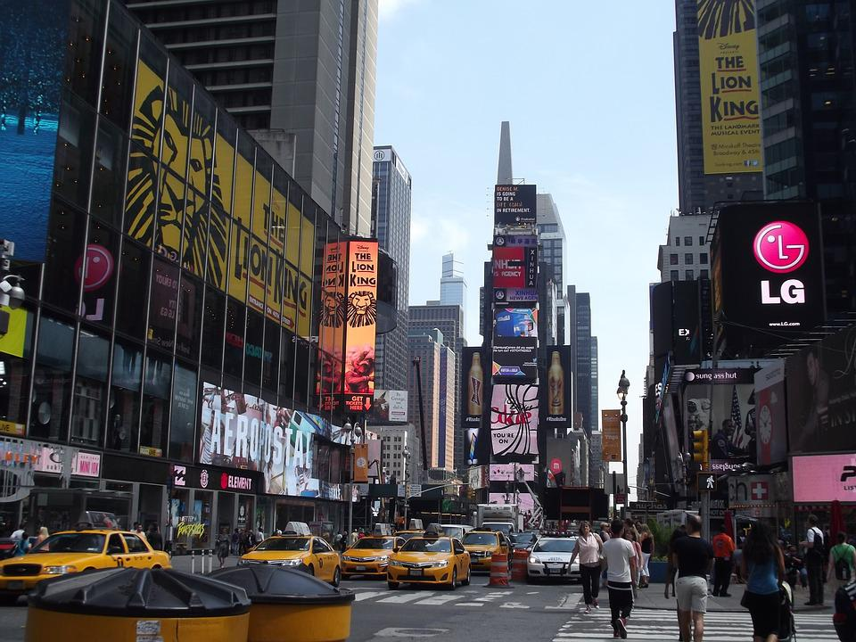 New York, Times Square, Travel, Manhattan, America