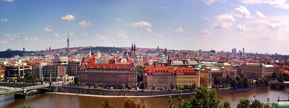 Panorama, Prague, Landscape, Travel To Europe