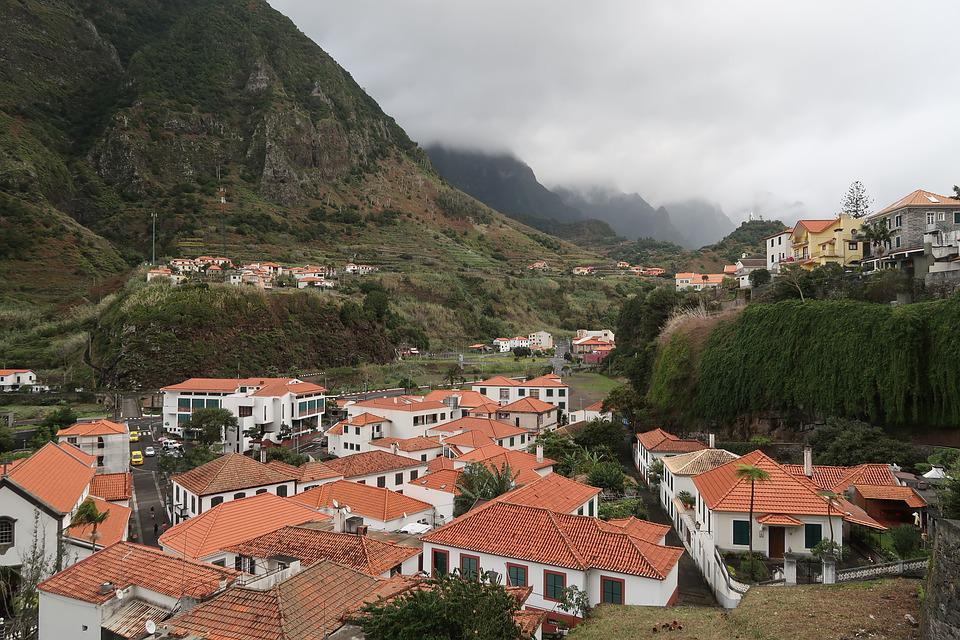Madeira, Town, Architecture, House, Panoramic, Travel