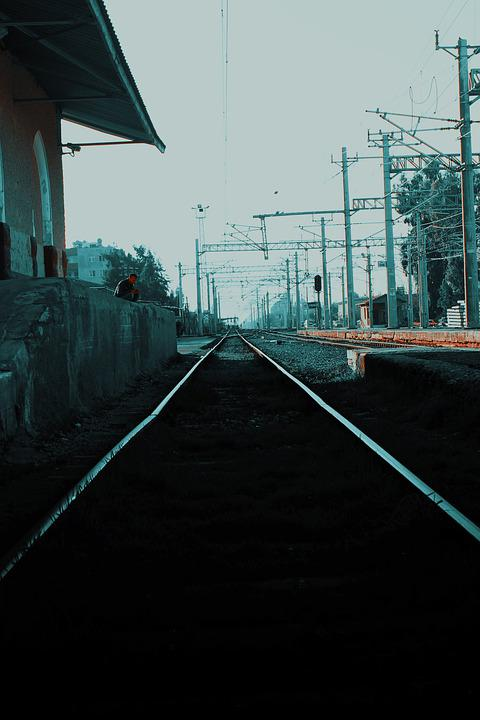 Train, Black, White, Track, Railway, Travel, Transport