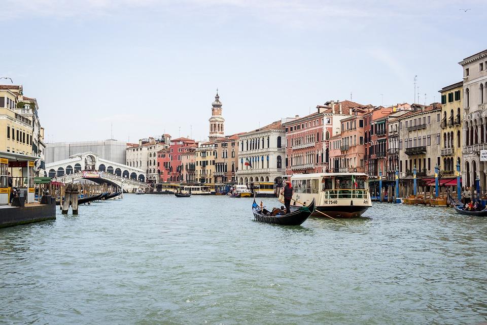 Canal, Water, City, Travel, Boat, Venetian, Bridge