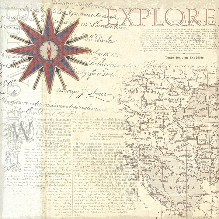 Map, Explorer, Travel, Vintage, Nautical, Background